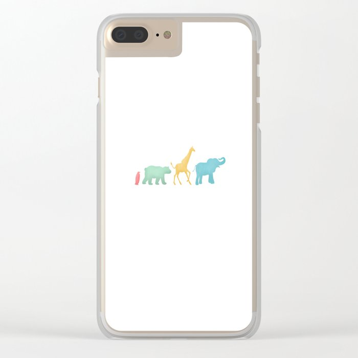 Baby Animal Silhouettes Clear iPhone Case
