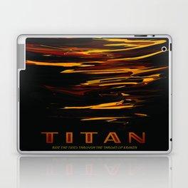 Titan : NASA Retro Solar System Travel Posters Laptop & iPad Skin