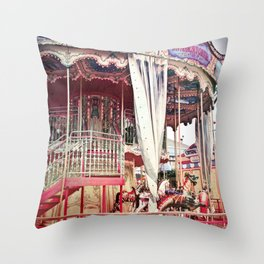 San Francisco Carousel Pier 39 Photo Print Throw Pillow