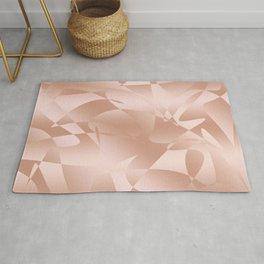 Elegant rose gold pattern Rug