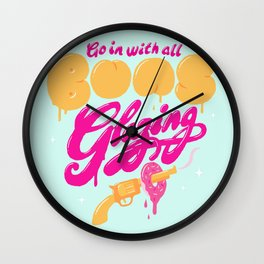Go In With All Buns Glazing Wall Clock