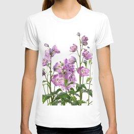 Purple delphinium flowers T-shirt