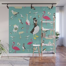 Party Birds - Pattern Wall Mural