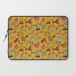 Food Frenzy yellow Laptop Sleeve