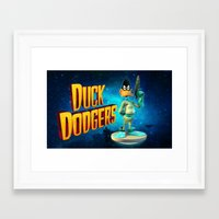 dodgers Framed Art Prints featuring Duck Dodgers by KOKIZO