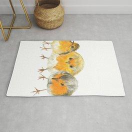 Robin Trio illustration Birds Rug