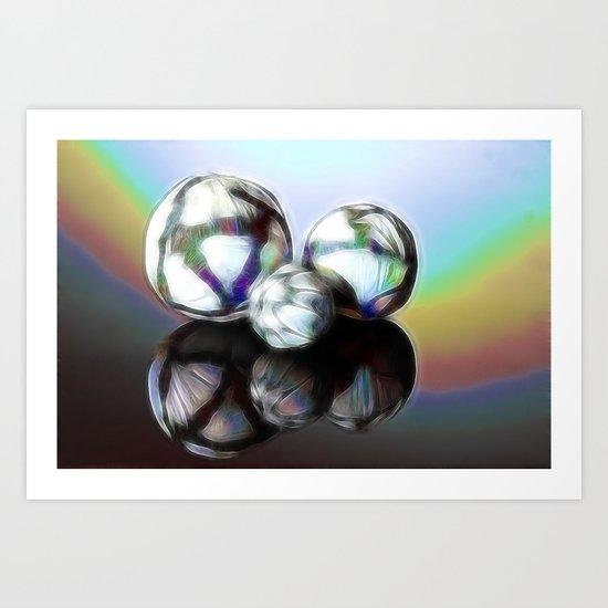Rainballs Art Print