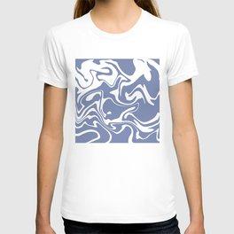 Soft Violet Liquid Marble Effect Design T-shirt