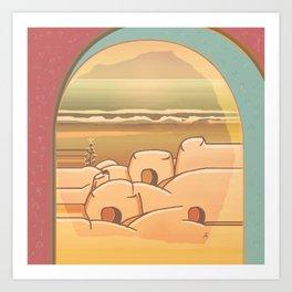 Beached Labyrinth Art Print