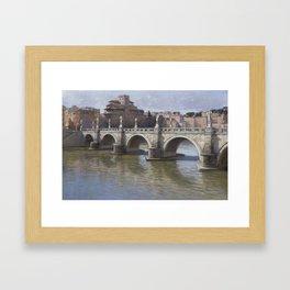 Puerto del Angelo, Rome Framed Art Print
