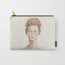 Red Head Smirk Carry-All Pouch
