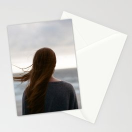 Windy Hair Stationery Cards