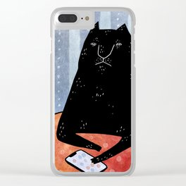 Cat call Clear iPhone Case
