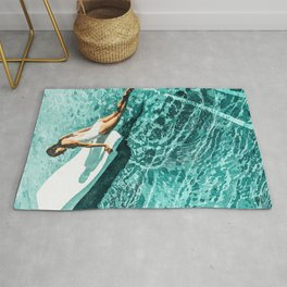 Pool Day #society6 #painting #summer Rug
