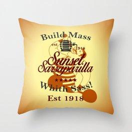 Sunset Sarsaparilla Throw Pillow