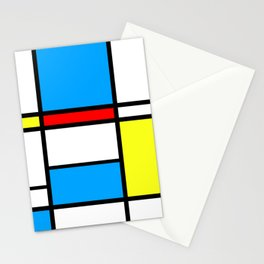 Mondriaan style Stationery Cards