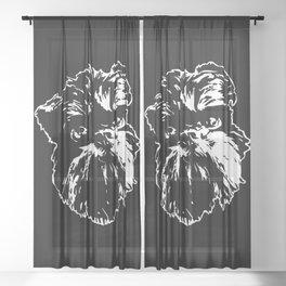 GRIFFON DOG Sheer Curtain
