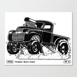 1946 Chevy Pick-up – BLACK Canvas Print