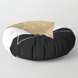 Golden marble deco geometric Floor Pillow