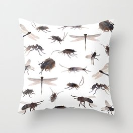 insects colabb. Throw Pillow