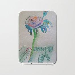 Flower rainbow inspiration modern paintings by Christian T. Bath Mat