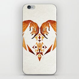 foxes heart  iPhone Skin