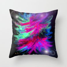 Funky Nebula Throw Pillow