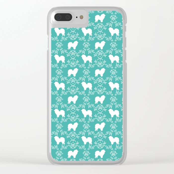 Chow Chow silhouette floral dog breed gifts chow chows pure breed Clear iPhone Case