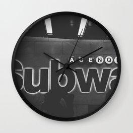 Subway Vibes Wall Clock