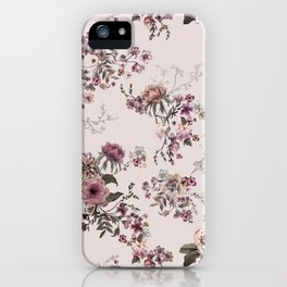 Japanese Boho Floral- Oat Natural  iPhone Case
