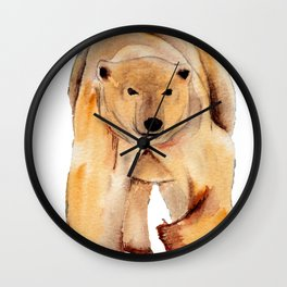 ours blanc sans banquise Wall Clock