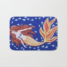 Flame of the Sea Bath Mat