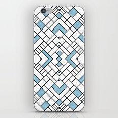 PS Grid 45 Sky Blue iPhone & iPod Skin