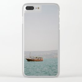 Sailing on the Sea of Galilee - Holy Land Fine Art Film Photography Clear iPhone Case