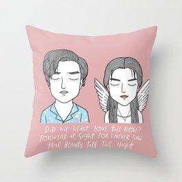 R + J Throw Pillow