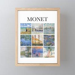 Monet collage Framed Mini Art Print