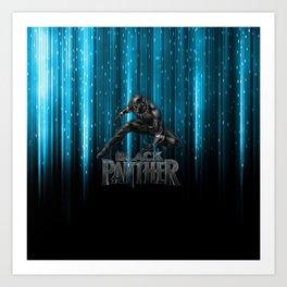 BP on blue Art Print