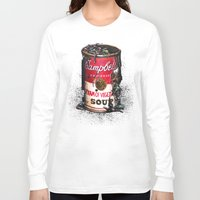 vegetable Long Sleeve T-shirts featuring Cream of Vegetable by Daryll Peirce