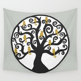 Cat Tree of Life Wall Tapestry