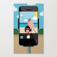 selfie Canvas Prints featuring Selfie? by Chiara Belmonte