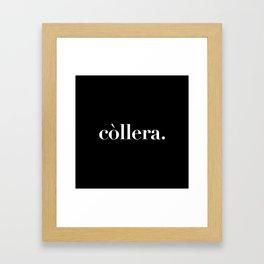 còllera. Framed Art Print