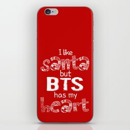 I Like Santa but BTS Has My Heart! iPhone Skin