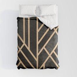 Art Deco Black Comforters
