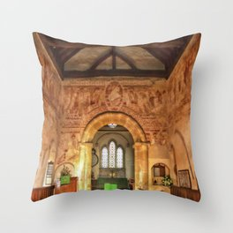 Clayton Church Interior Throw Pillow