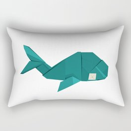 Origami Whale Rectangular Pillow