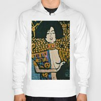 gustav klimt Hoodies featuring Judith - Ode to Klimt  by LadyJennD