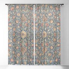William Morris Floral Carpet Print Sheer Curtain