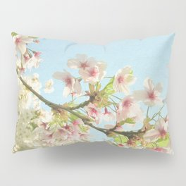 Pink on White Pillow Sham