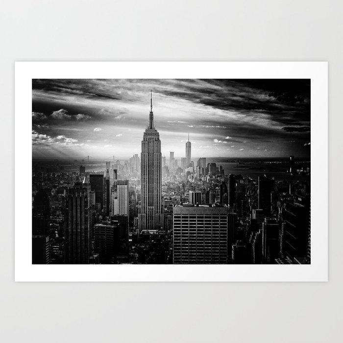 Black and white nyc art print