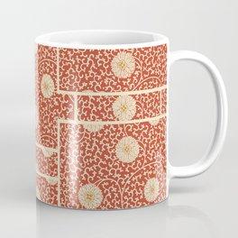 70's Red Floral Coffee Mug